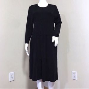 J McLaughlin Dress L XL Black Long Sleeve Stretchy